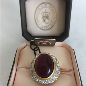Juicy Couture Statement Red Cabochon Ring